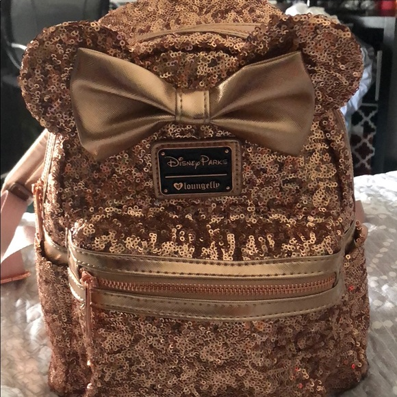 Loungefly Bags   Rose Gold Disney Parks Backpack   Poshmark a69f5ddb6b
